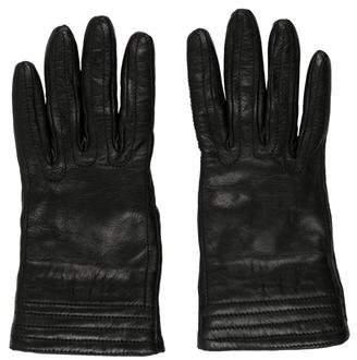 Les Copains Leather Short Gloves