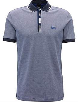 HUGO BOSS Regular-Fit Polo Shirt With Striped Collar And Placket