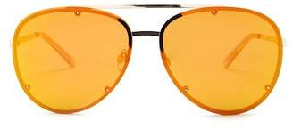 Steve Madden 63mm Metal Aviator Sunglasses