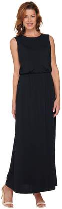 Joan Rivers Classics Collection Joan Rivers Petite Length Jersey Knit Maxi Dress with Pockets
