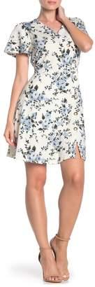 Como Vintage Button Detail Short Sleeve Dress