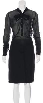 Thakoon Wool Midi Dress