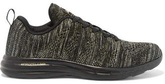 APL Athletic Propulsion Labs Techloom Pro Metallic Mesh Sneakers - Black