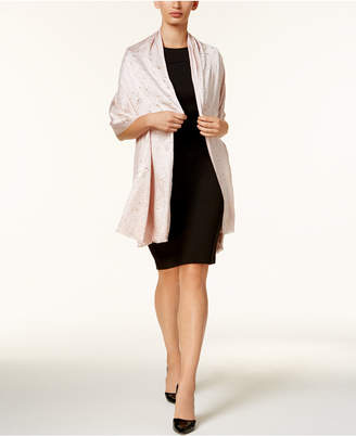 INC International Concepts I.N.C. Metallic-Print Wrap & Scarf in One, Created for Macy's