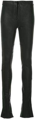 Masnada skinny faux leather trousers