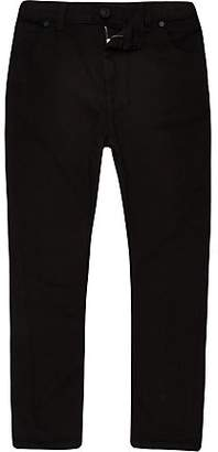 River Island Boys black Tony tapered slouch jeans
