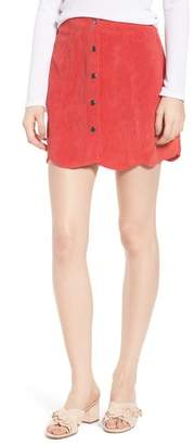 The Fifth Label Central Corduroy Scallop Hem Skirt