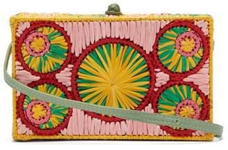 Sophie Anderson Mia Woven Raffia Cross Body Bag - Womens - Green Multi