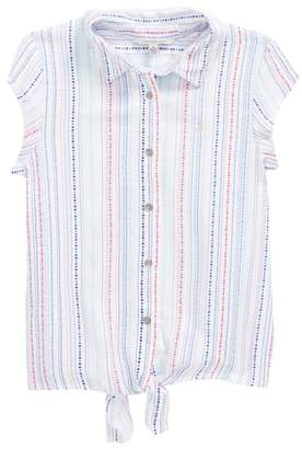 Calvin Klein Dot Front Tie Top