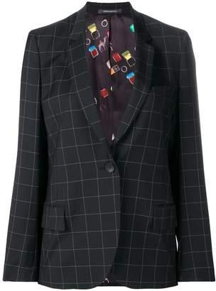 Paul Smith grid print blazer