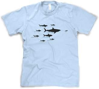 Crazy Dog T-shirts Crazy Dog Tshirts Kids' Shark Hierarchy T Shirt Funny Youth Sharks Shirt I Love Sharks Tee S