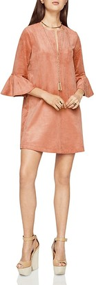 BCBGMAXAZRIA Faux Suede Mini Dress $198 thestylecure.com