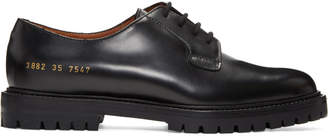 Common Projects Woman By Woman by SSENSE Exclusive Black Leather Derbys