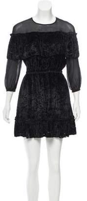 Rachel Zoe Velvet & Silk Mini Dress w/ Tags