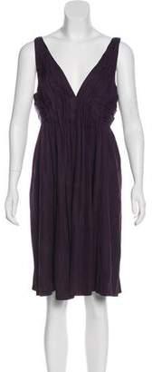 Foley + Corinna Silk-Blend Knee-Length Dress