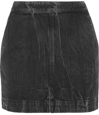 Givenchy Distressed Denim Mini Skirt - Black