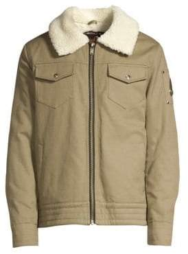 Moose Knuckles Grizzly Ridge Faux Shearling Collar Jacket