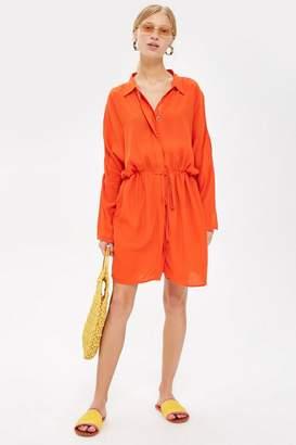 Topshop Drawstring Shirt Dress