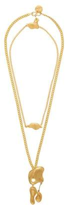 Misho - Pebble Drop Necklace And Choker - Womens - Gold