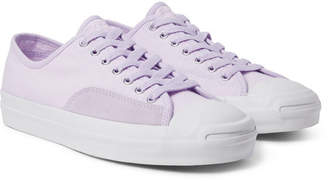 Converse Jack Purcell Pro Suede-Trimmed Canvas Sneakers - Lilac