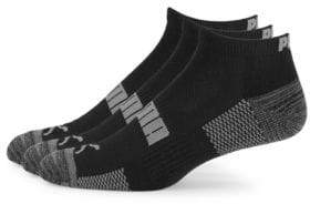 Puma Three-Pack Colorblock Terry Low-Cut Socks
