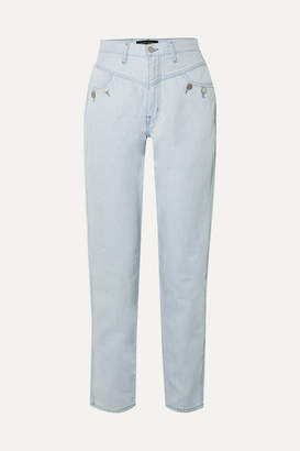J Brand Elsa Hosk Playday High-rise Straight-leg Jeans - Blue