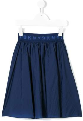 DKNY logo printed full skirt