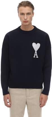 Ami Alexandre Mattiussi Oversize Merino Wool Knit Sweater