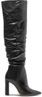 Alexandre Birman Anna Leather Knee Boots - Black