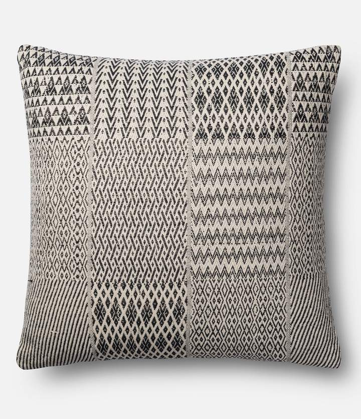 Magnolia Home by Joanna Gaines Etta Patchwork Square Feather Pillow