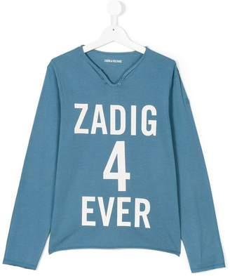 Zadig & Voltaire Kids slogan T-shirt