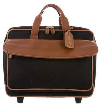 Anthony Logistics For Men T. Leather-Trimmed Travel Briefcase