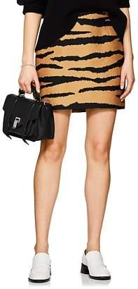 Proenza Schouler Women's Tiger-Pattern Wool-Silk Miniskirt