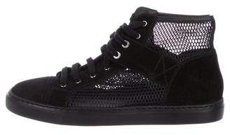 Chanel Mesh High-Top Sneakers