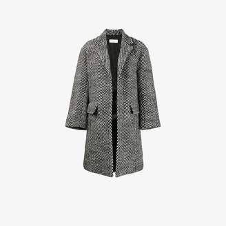 Dries Van Noten Rodel herringbone oversized coat