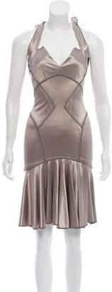 Zac Posen Satin Midi Dress