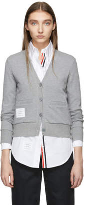 Thom Browne Grey Classic Stripe Cardigan