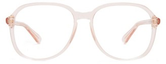 Gucci Square Frame Acetate Glasses - Womens - Light Pink