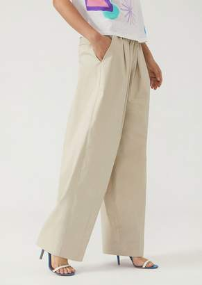 Emporio Armani Trousers In Cotton Gabardine