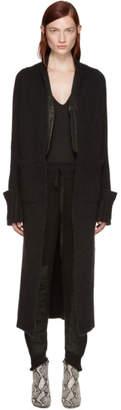 Haider Ackermann Black Long Mohair Cardigan