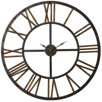 "Trent Austin Design Garfield Oversized 28"" Roman Numeral Open Back Wall Clock"