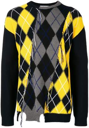 MSGM argyle knitted jumper