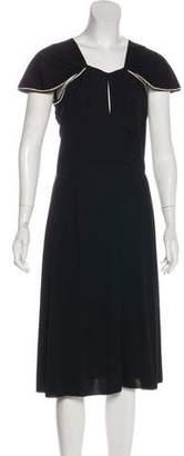 Saint Laurent Short Sleeve Midi Dress