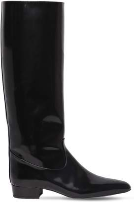 Nina Ricci 20mm Polished Leather Tall Boots