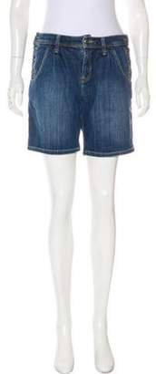 Burberry Mid-Rise Knee-Length Shorts blue Mid-Rise Knee-Length Shorts