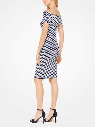 MICHAEL Michael Kors Stretch-Viscose Off-the-Shoulder Dress