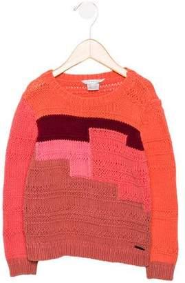 Little Marc Jacobs Girls' Colorblock Knit Sweater