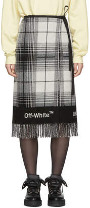 Off-White Off White Black and White Check Blanket Skirt