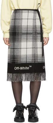 Off-White Black and White Check Blanket Skirt