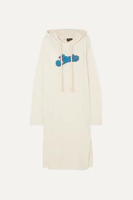 Loewe + Paula's Ibiza Logo-appliqued Slub Wool-blend Jersey Maxi Dress - Ivory